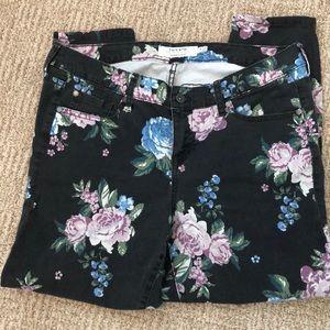 Torrid Skinny Floral Jeans